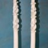Свечи тонкие резные 40 см