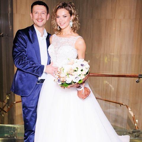 Свадебное фото Дмитрия Ступки и Полины